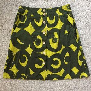 Marimekko For Anthropologie Skirt Size 4 Green
